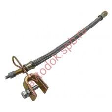 Удлинитель вентиля 250мм резина в защитной оплетке (шланг подкачки внутреннего колеса) ТОП АВТО