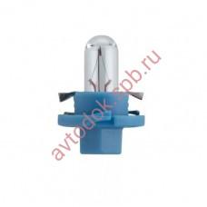 Лампа Патрон NARVA BAX1,2W (BAX8.4d) 12V (голубой)