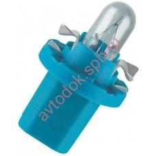 Лампа Патрон OSRAM BAX2W (B8.5d) 12V (синий)