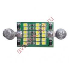 Плата плафона салона на светодиодах (замена С5W)18 светод.
