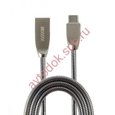 Кабель-переходник USB-Type C (CB850-UTC-Z-10B) чёрный цинк 1м.