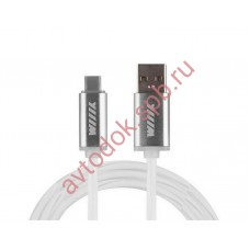 Кабель-переходник светящийся USB-USB Type-C белый 1м CBL710-UTC-10W