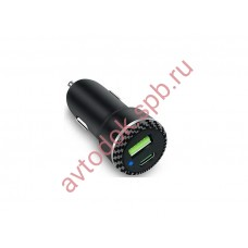 Зарядное устройство для моб. устройств в прикур. c 2 USB черн.UCC-2-23  (QC3.0/FCP/AFC + TypeC-PD)