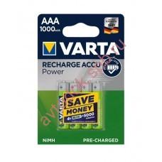Элемент питания аккумуляторн.AAА 1.2V 1000 mАh VARTA ACC (блист. 4шт.)