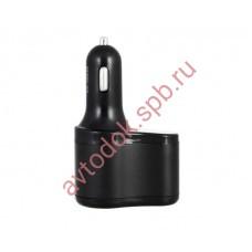 Разветвитель прикуривателя с двумя USB-портами чёрный WIIIX