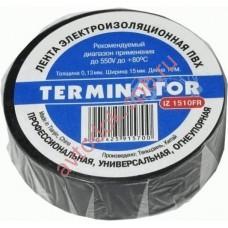 Изолента Terminator черная 10м термостойкая