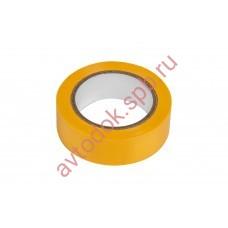 Изолента CARGEN желтая 18мм х 9м (0.12мм) PROFI