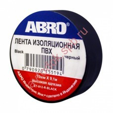 Изолента ABRO черная 19мм х 9,1м