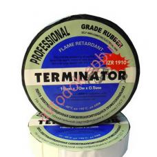 Изолента Terminator черная 20м самовулканизирующаяся резиновая лента 0,5мм