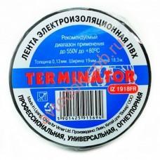 Изолента Terminator черная 20м термостойкая