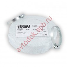 Бандаж глушителя (термолента) 30x16м,карбон TITAN