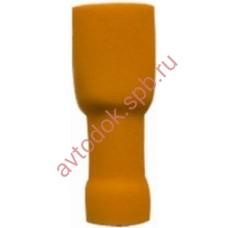 Клеммы (мамы) 6,3 закрытые желтые 100шт FDFV5-250