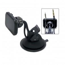Держатель телефона/смартфона магнитный на торпеду .2 фиксатора кабеля HT-32T7mg-2cb