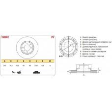Диск тормозной передний 2101 к-т ASP