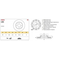 Диск тормозной передний 2108 к-т ASP