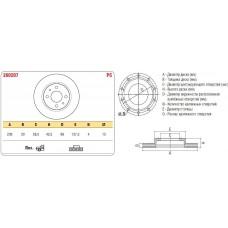 """Диск тормозной передний 2110 вент. 13"""" к-т ASP"""