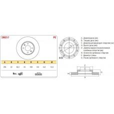 Диск тормозной передний HUINDAI SOLARIS ASP