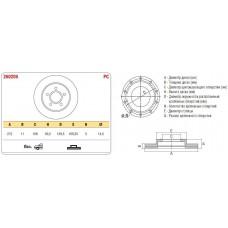 Диск тормозной передний 2121 к-т ASP
