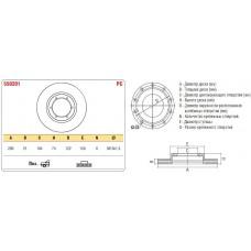 Диск тормозной передний Газель 3302 к-т ASP