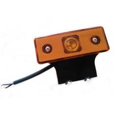 Фонарь габаритный 112222 светодиодный желтый на резин. кроншт.