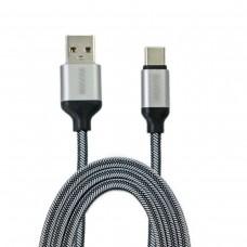 Кабель-переходник USB-Type-C серебристый 1,5м CB110-UTC-15S