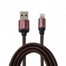 Кабель-переходник USB-Lightning (CB810-2A-U8-LR-10BN) коричневый эко-кожа 1м.