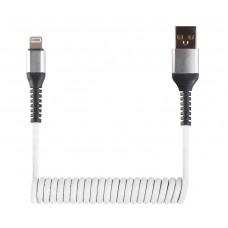 Кабель-переходник USB-Lightning (CB940-U8-12W) спиральный белый 1,2м