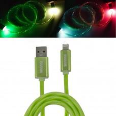 Кабель-переходник светящийся USB-8pin зеленый 1м CBL710-U8-10G