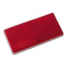 Катафот прямоугольный красный (71х30) на липучке