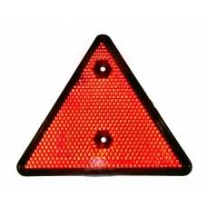 Катафот треугольный красный 2 отверстия под винты