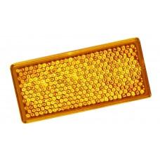 Катафот прямоугольный желтый 105*55*8 (2-х сторонний скотч)