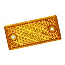 Катафот прямоугольный жёлтый (под 2 отверстия) 201.3731