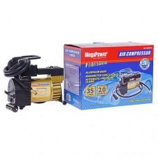 Компрессор MEGAPOWER 100PSI 12V (35л/мин 14А)с фиксацией давления
