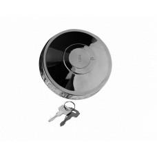 Крышка бензобака с ключом MERSEDES 80мм метал хром