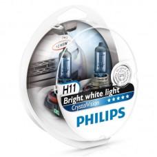 "Лампа ""Phillips""Н11 55вт (PGJ19-2)+W5W 12V-5W (W2,1x9,5d) Crystal Vision по 2шт."