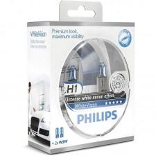 """Лампа """"Phillips""""Н1 55вт WHITE VISION (2шт.)"""