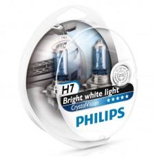 "Лампа ""Phillips""Н7 55вт CRISTAL VISION 4300K (2шт+2штW5W)"