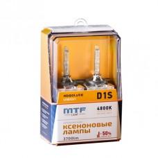 Лампа газоразрядная (ксенон) MTF Light D1S ABSOLUTE VISION+50% 85V, 35W, 4800К