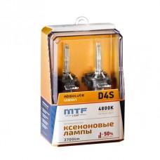 Лампа газоразрядная (ксенон) MTF Light D4S ABSOLUTE VISION+50% 42V, 35W, 4800К