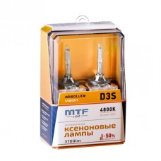 Лампа газоразрядная (ксенон) MTF Light D3S ABSOLUTE VISION+50% 42V, 35W, 4800К