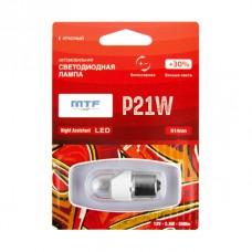 """Светодиодная лампа """"MTF"""" 12 V P21W Night Assistant 2.5Вт красная,блистер 1шт"""
