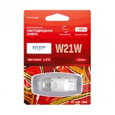 "Светодиодная лампа ""MTF"" 12 V W21W Night Assistan б/ц 2.5Вт красная,блистер 1шт"