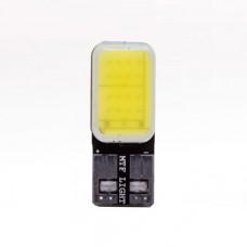 """Светодиодная лампа """"MTF"""" 12 V W5W/T10 б/ц 3W,270 люмен,5500К,линза матовая,2шт"""