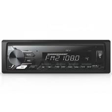 Магнитола AVS-811W 1din/белая/USB/AUX/SD/FM/4*50/съемная панель