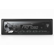 Магнитола AVS-811WD 1din/белая/USB/AUX/SD/FM/4*50/съемная панель