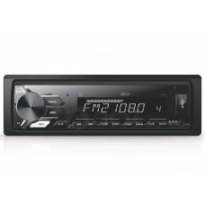 Магнитола AVS-812BW 1din/белая/Bluetooth/USB/AUX/SD/FM/4*50/