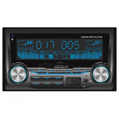 Магнитола AVS-2500 USB/SD/ММС/FM/AUX/2-RC/4*40Вт /пульт ДУ/
