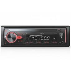 Магнитола AVS-813BM 1din/мультицвет/Bluetooth/USB/SD/FM/4*50/ съемная панель
