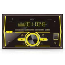 Магнитола AVS-2700BM 2din/мультицвет/USB/AUX/BT/SD/FM/4*50/съёмная панель