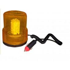 """Маячок проблесковый (жёлтый) магнит + стационар 24В """"стакан"""" (H=150мм, D=125мм)"""
